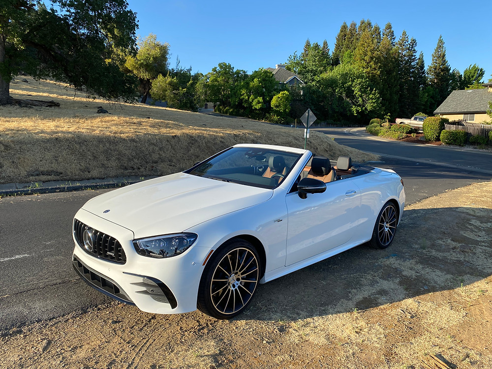 2021 Mercedes-AMG E53 Cabriolet front 3/4 view