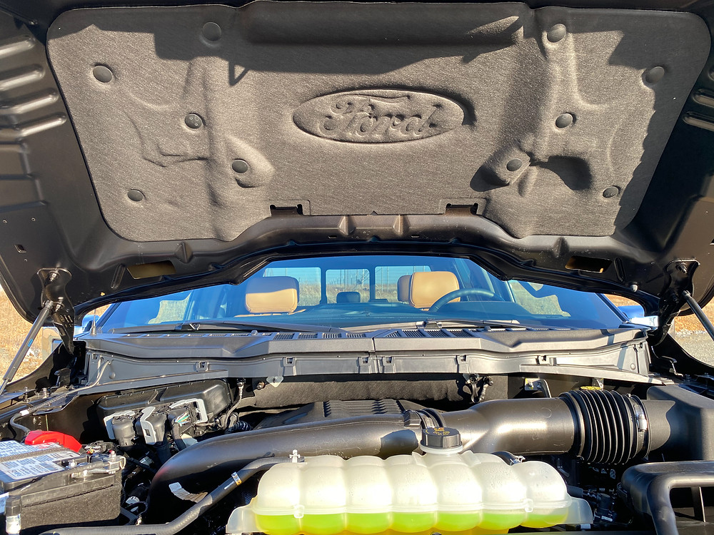 2021 Ford F-150 4X4 Supercrew hood insulation
