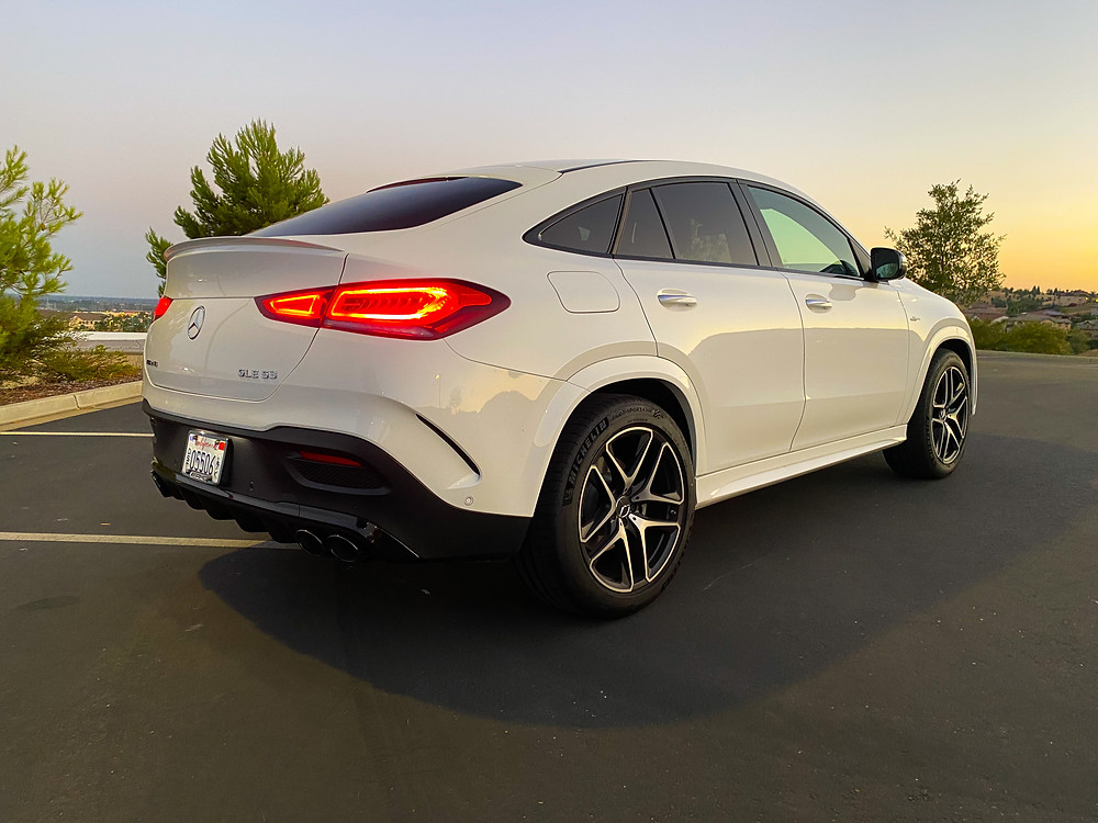 2021 Mercedes-Benz AMG GLE 53 rear 3/4 view