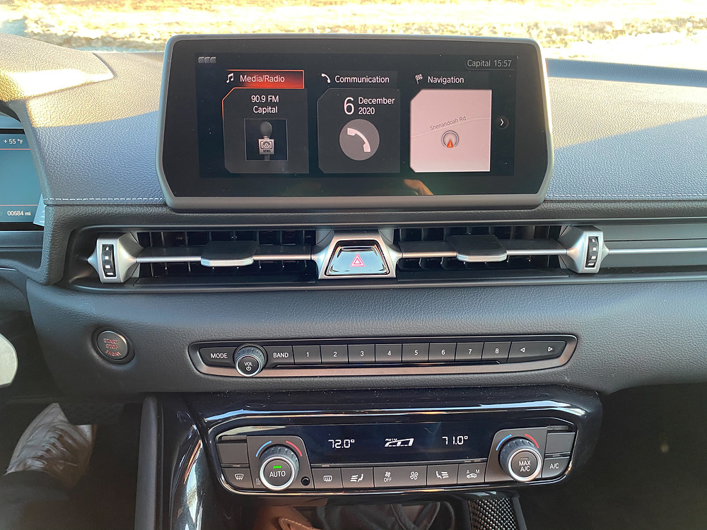 2021 Toyota GR Supra 2.0 navigation, infotainment and HVAC