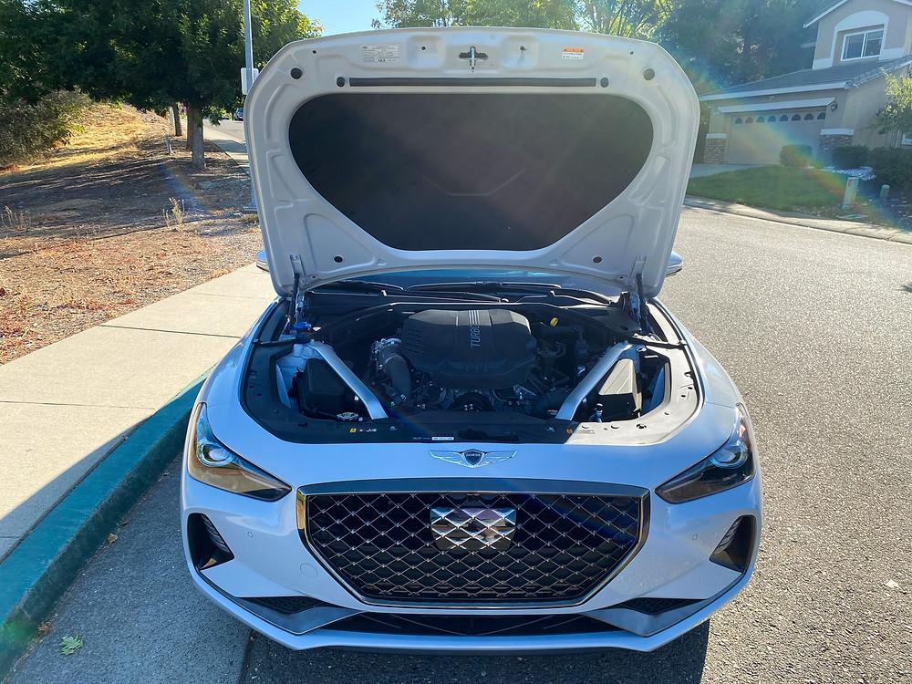 2020 Genesis G70 3.3T Sport hood up