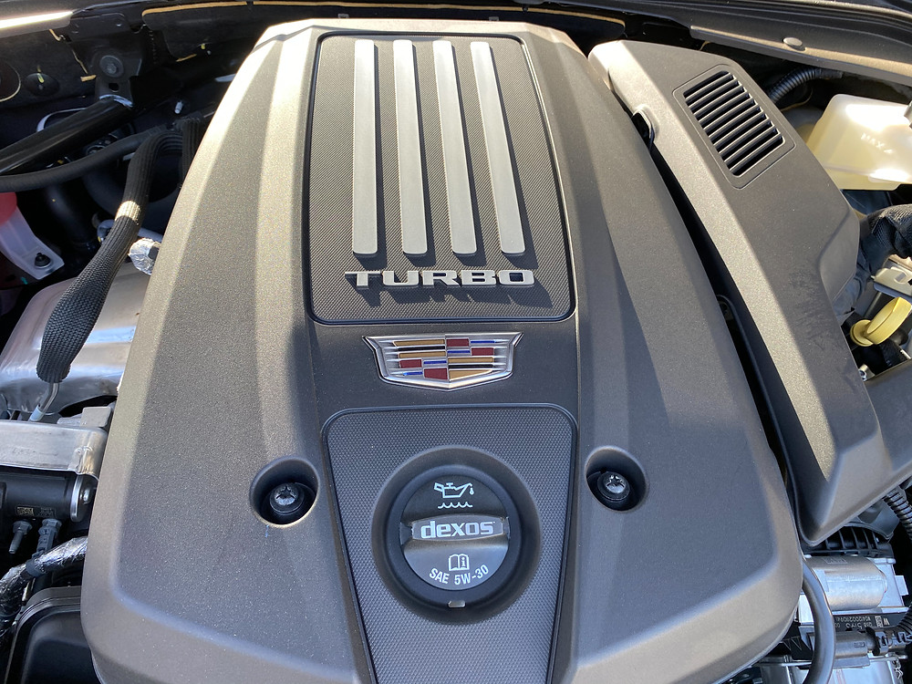 2020 Cadillac CT4 V-Series engine detail