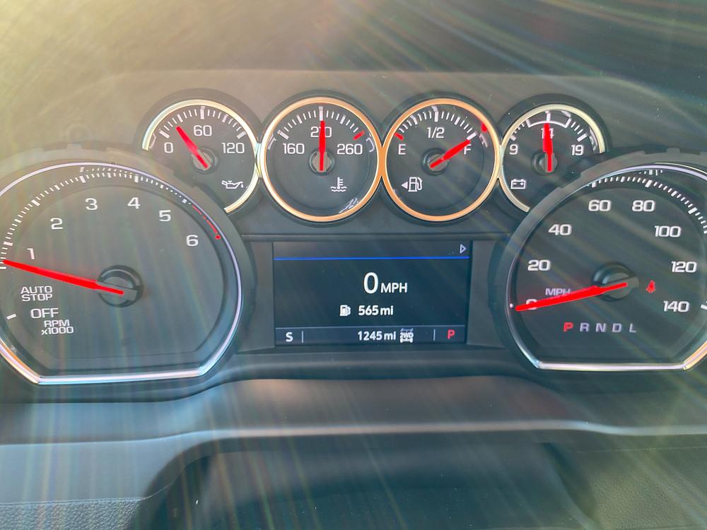 2021 Chevrolet Silverado Crew RST 4WD gauge cluster