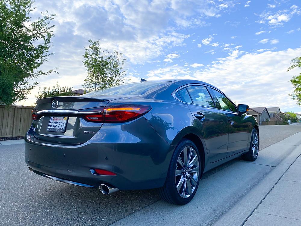 2020 Mazda 6 Signature rear 3/4 view