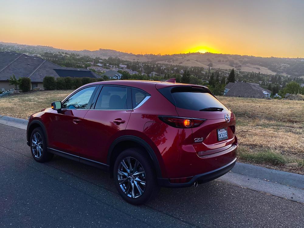 2020 Mazda CX-5 Signature AWD rear 3/4 view