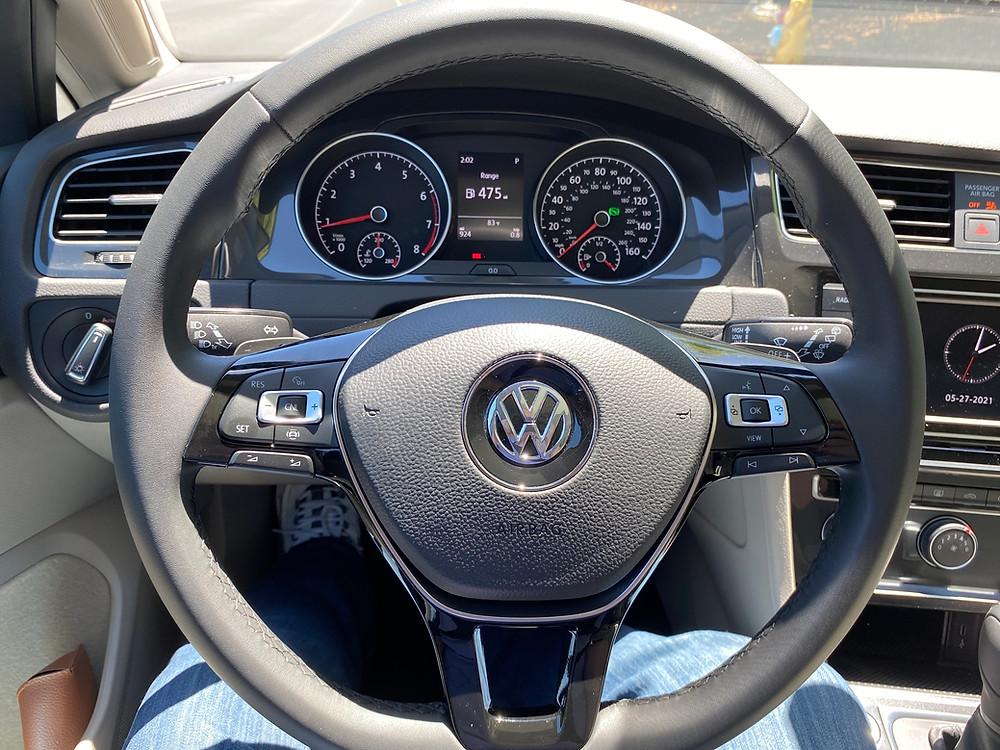 2021 Volkswagen Golf TSI steering wheel and gauge cluster