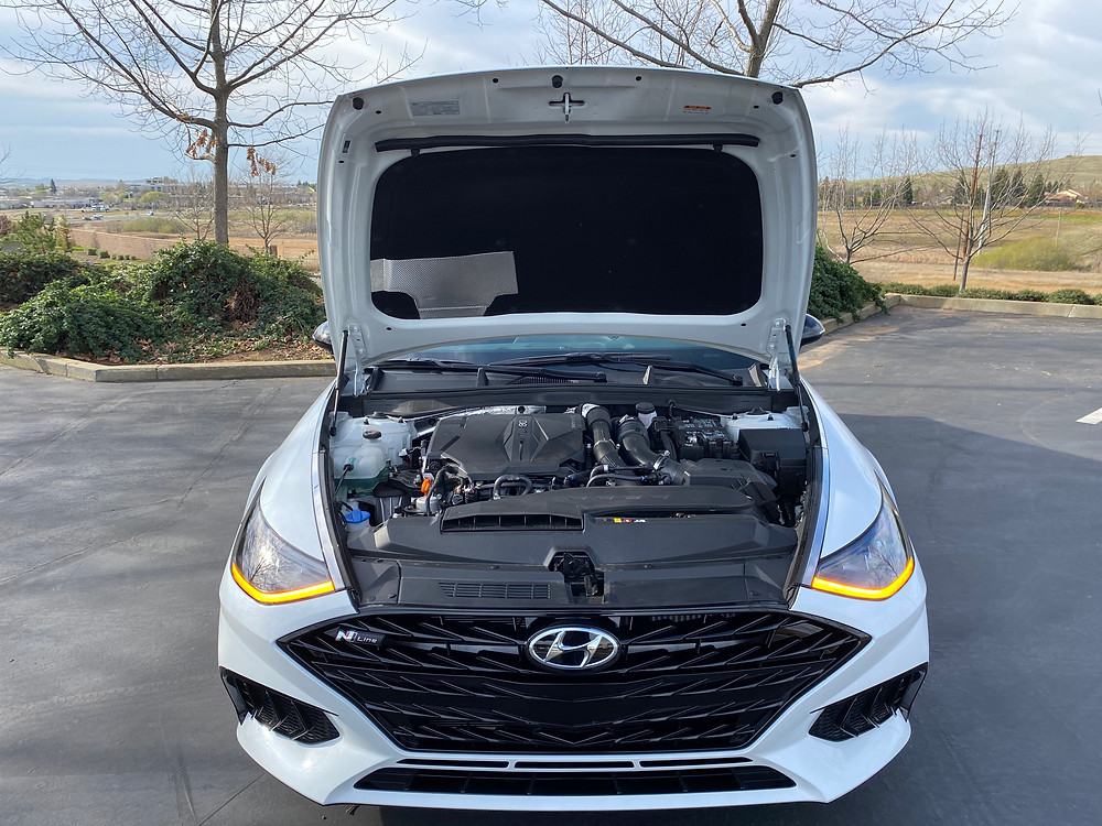 2021 Hyundai Sonata N-Line hood open