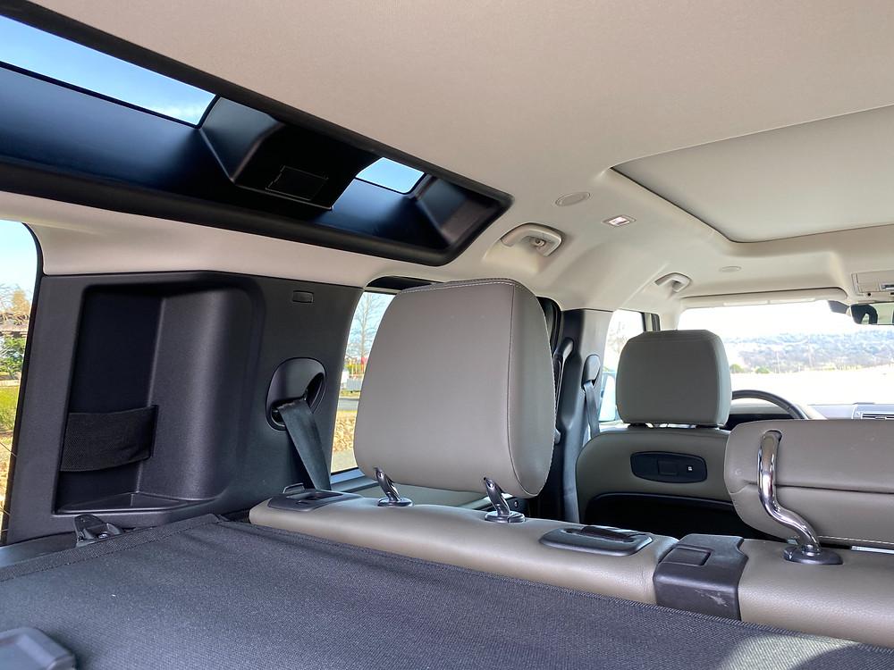 2020 Land Rover Defender 110 SE interior left upper windows