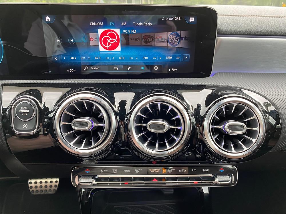 2020 Mercedes-Benz A220 Sedan infotainment and HVAC