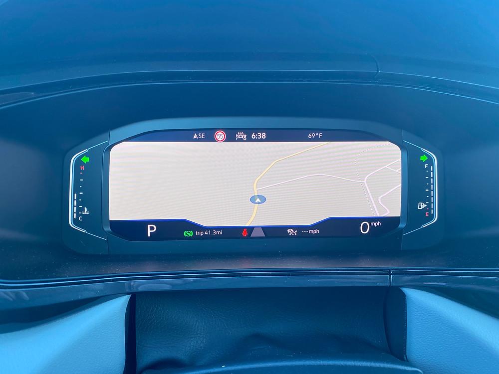 2022 Volkswagen Taos 1.5T SEL gauge cluster