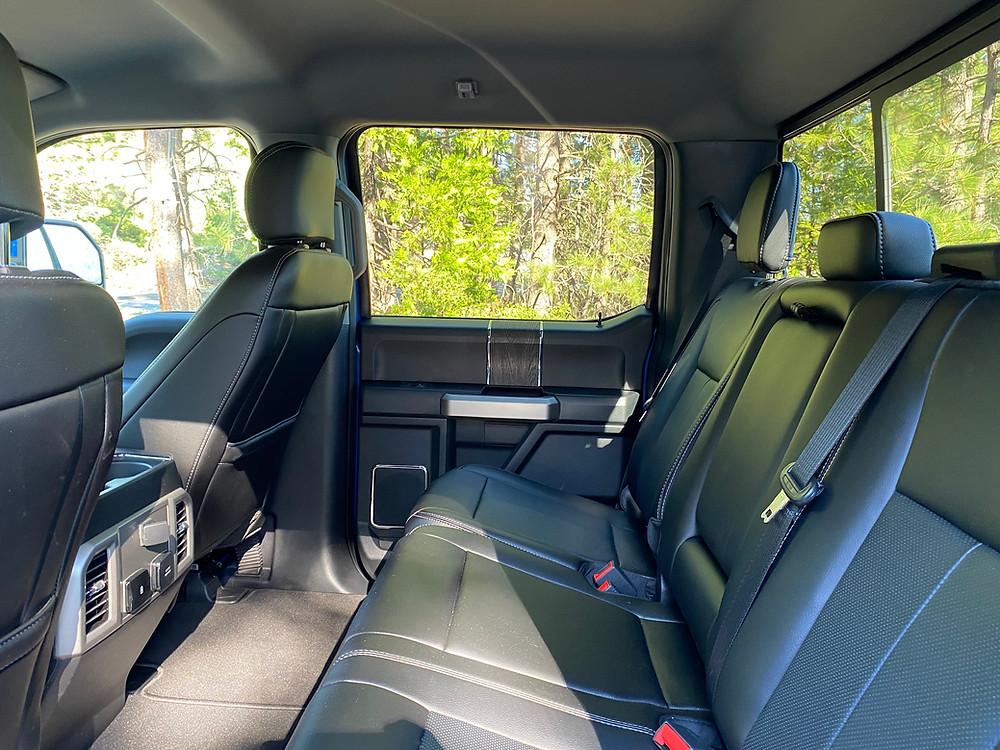 2021 Ford F-250 Tremor rear seat
