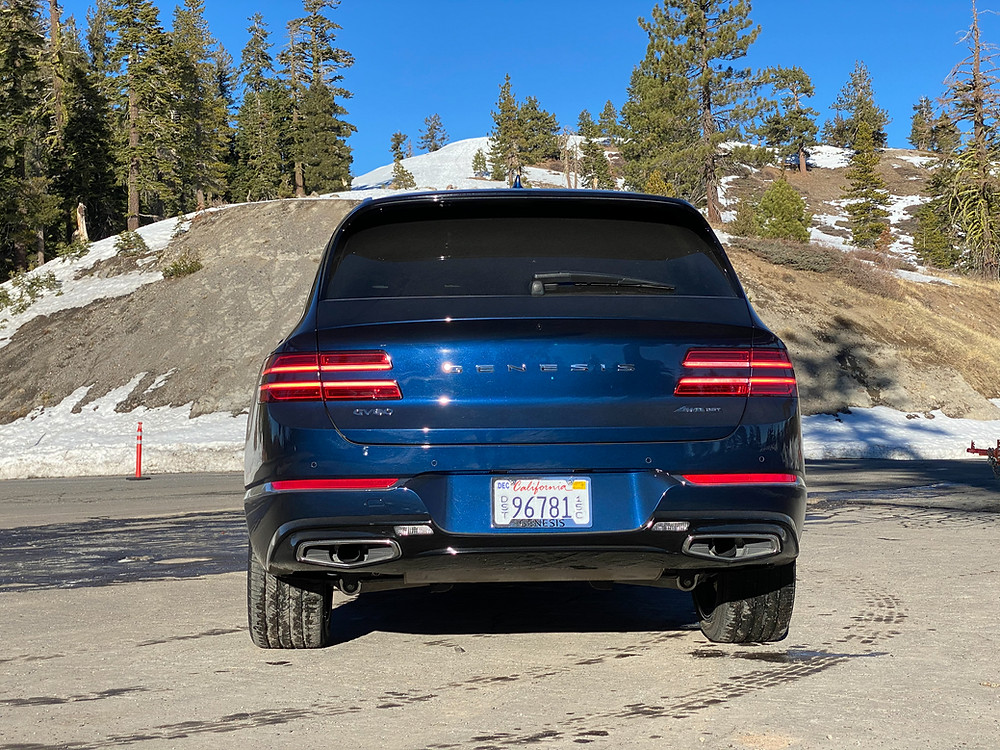2021 Genesis GV80 3.5T AWD Prestige rear view