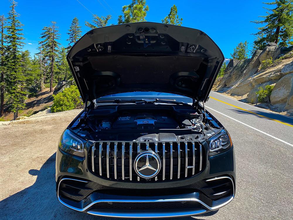 2021 Mercedes-AMG GLS 63 hood up