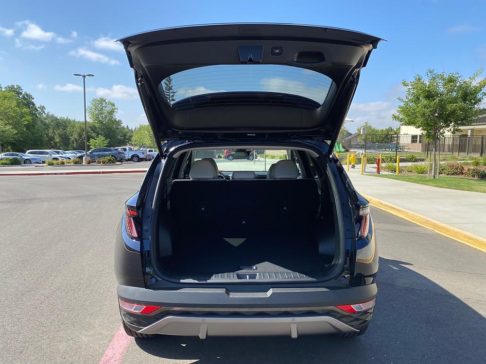 2021 Hyundai Tucson Limited Hybrid AWD rear liftgate open