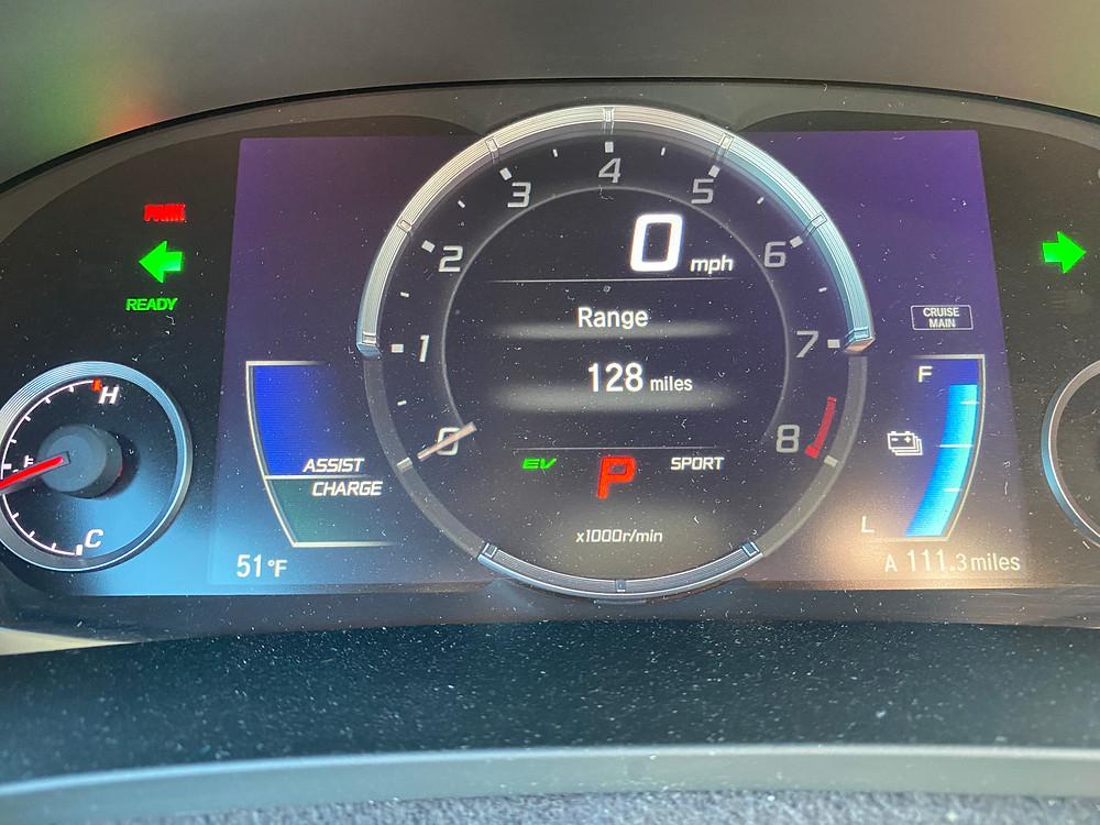 2020 Acura NSX gauge cluster