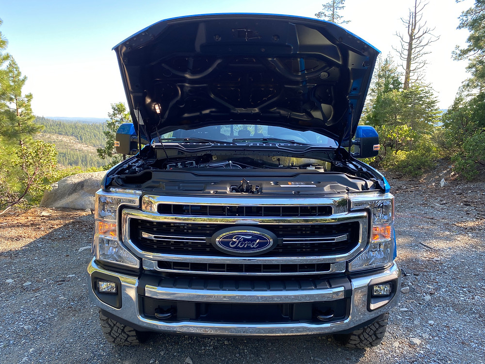 2021 Ford F-250 Tremor hood up