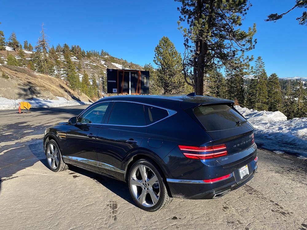 2021 Genesis GV80 rear 3/4 view