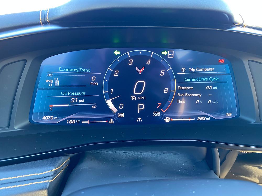 2020 Corvette String Ray gauge cluster
