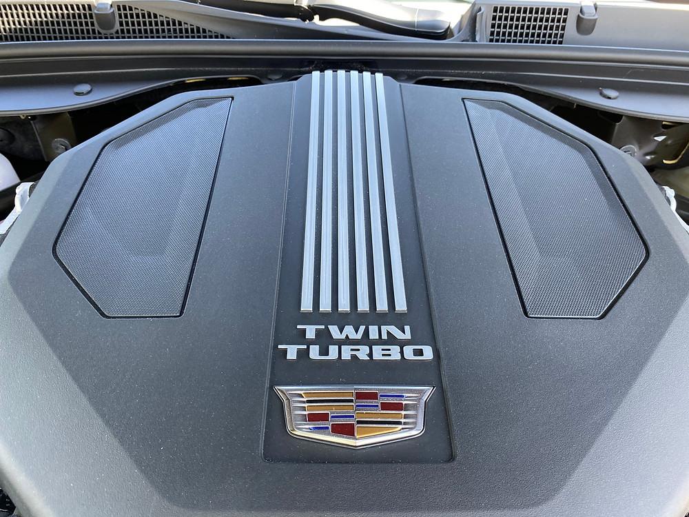 2021 Cadillac CT5 Premium Luxury engine detail