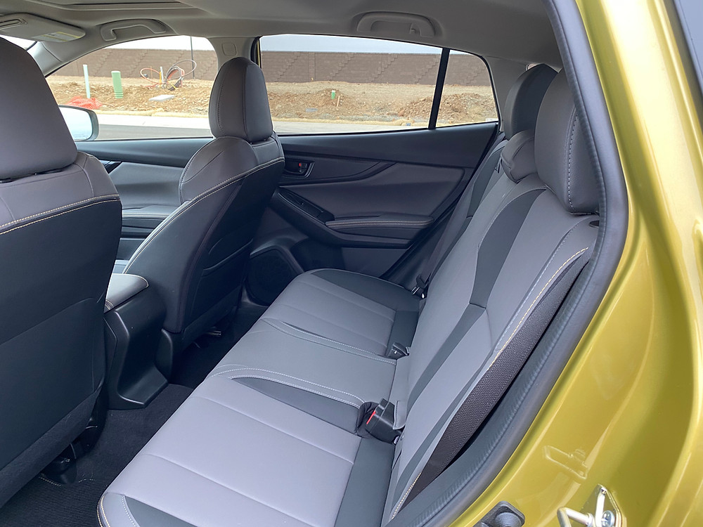 2021 Subaru Crosstrek Sport rear seat