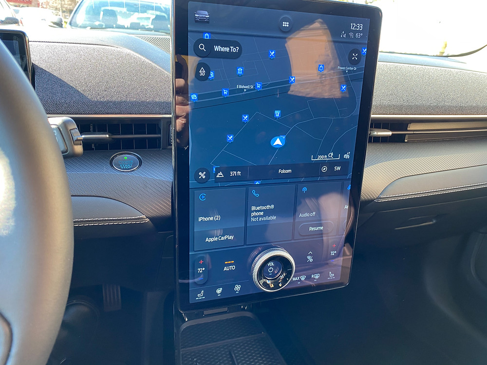 2021 Ford Mustang Mach-E center stack touchscreen