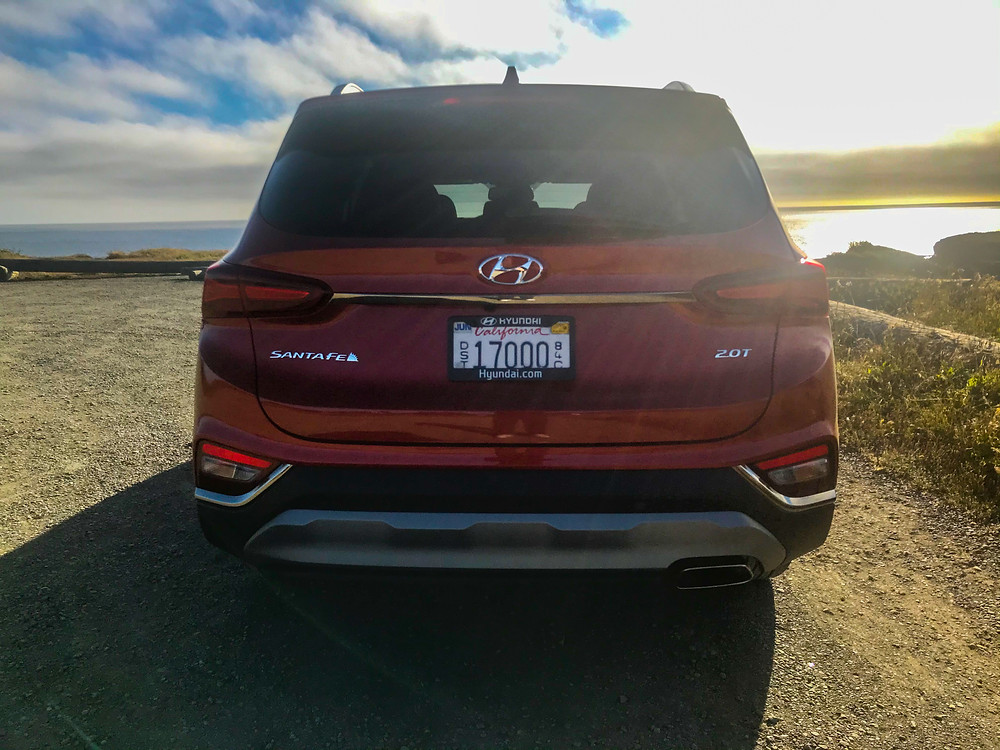 2020 Hyundai Santa Fe Limited rear view
