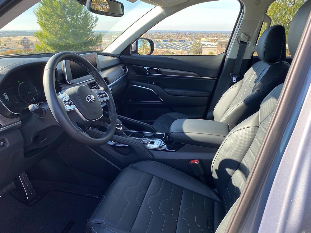 2021 Kia Telluride SX V6 AWD front seats