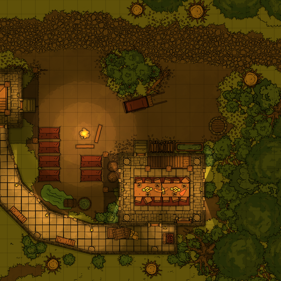 The Abandoned Guardpost - Battlemap