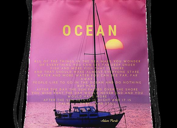 """""""Ocean"""" Drawstring Bag"""