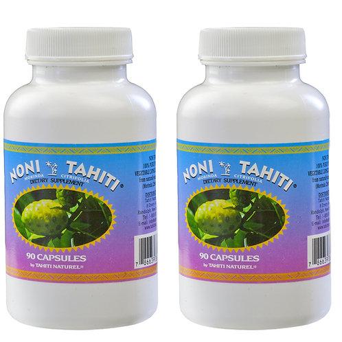 (2 Bottles) Noni Powder. 90 Veggie Capsules each