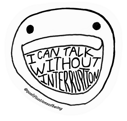 Without Interruption Sticker