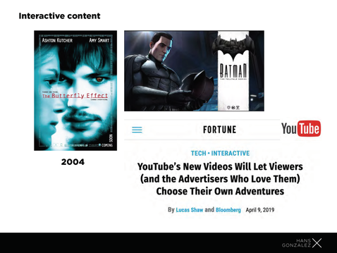 TVyDisrupción - Interactive content
