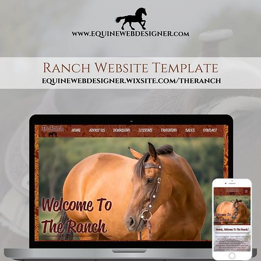 Ranch Website Template by Equine Web Designer