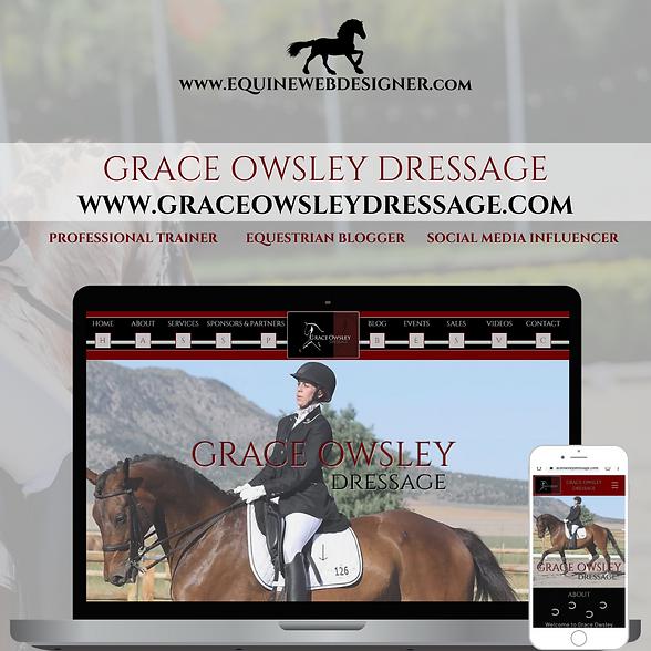 Grace Owsley Dressage Website Design by Equine Web Designer