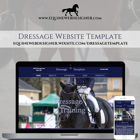 dressage website template by equine web designer