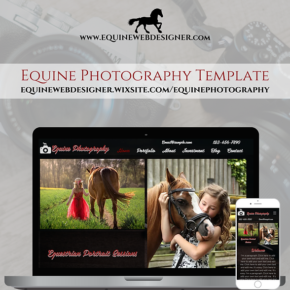 Equine Photography Website Template by Equine Web Designer