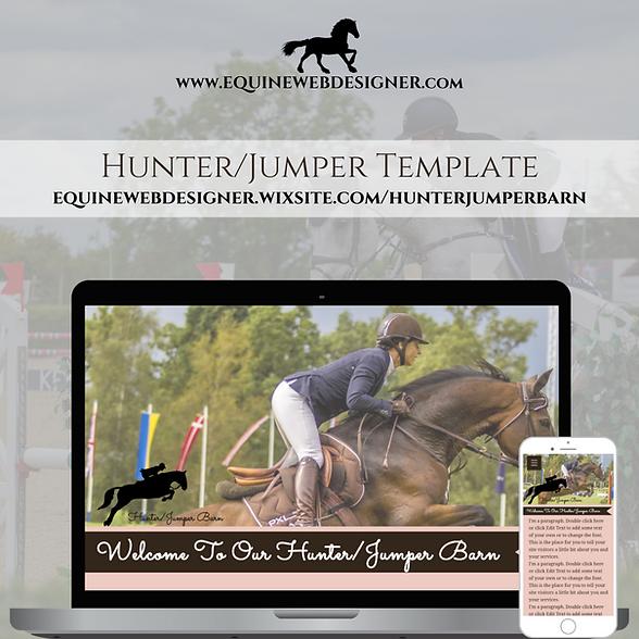 Hunter Jumper Template by Equine Web Designer
