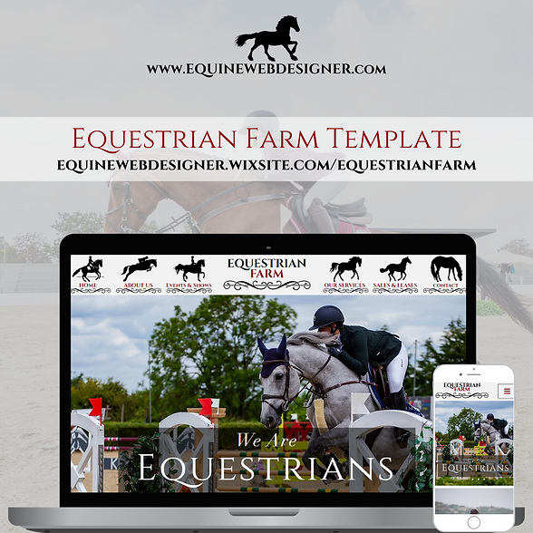 Equestrian Farm Website Template