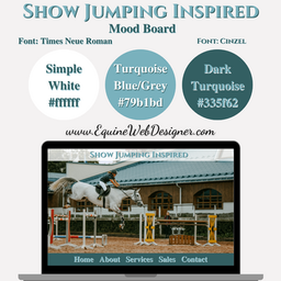 Show Jumping Inspired Mood Board