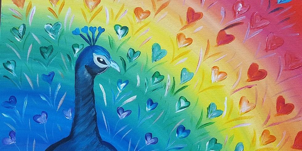 Petrie Hotel - Rainbow Love Peacock