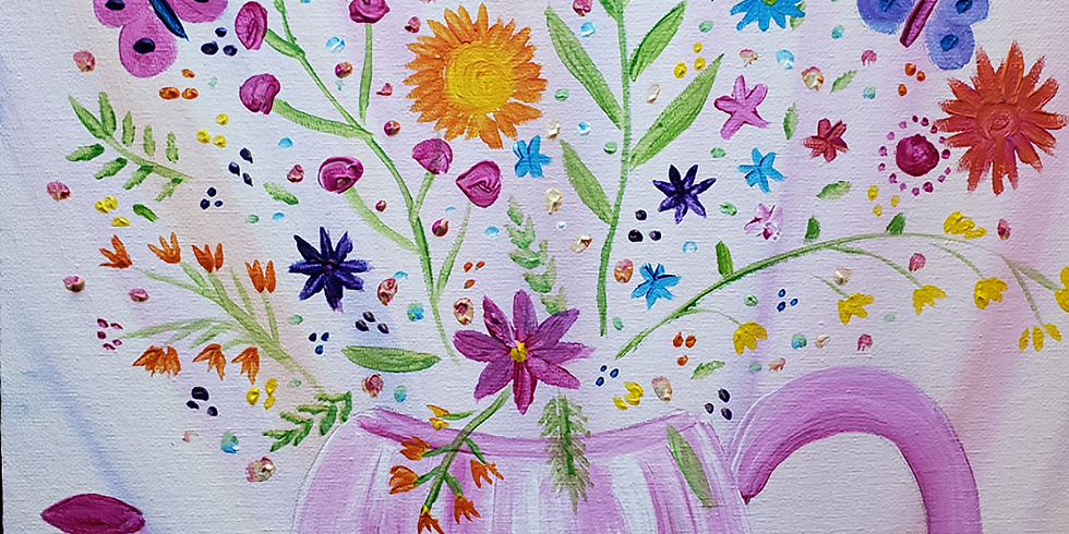 Dinmore Cottage - Flowering Teapot (Evening)