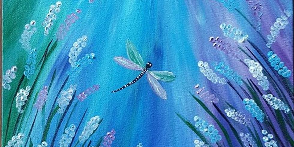Petrie Hotel - Dragonflies in Lavendar