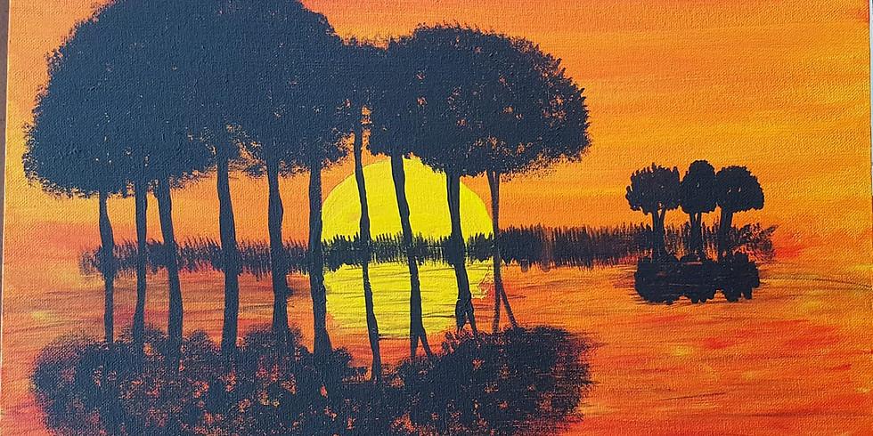 Petrie Hotel - Guitar Island Sunset