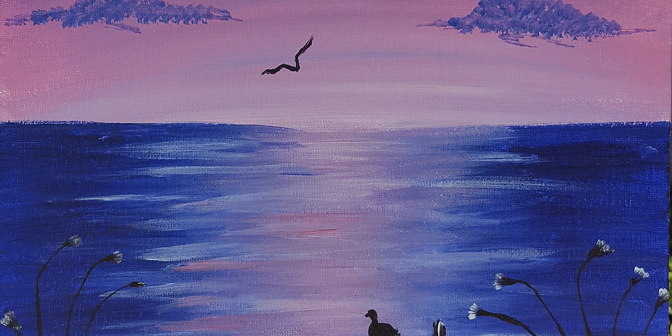 Cafe 3 eight nine - Sunset Seagulls