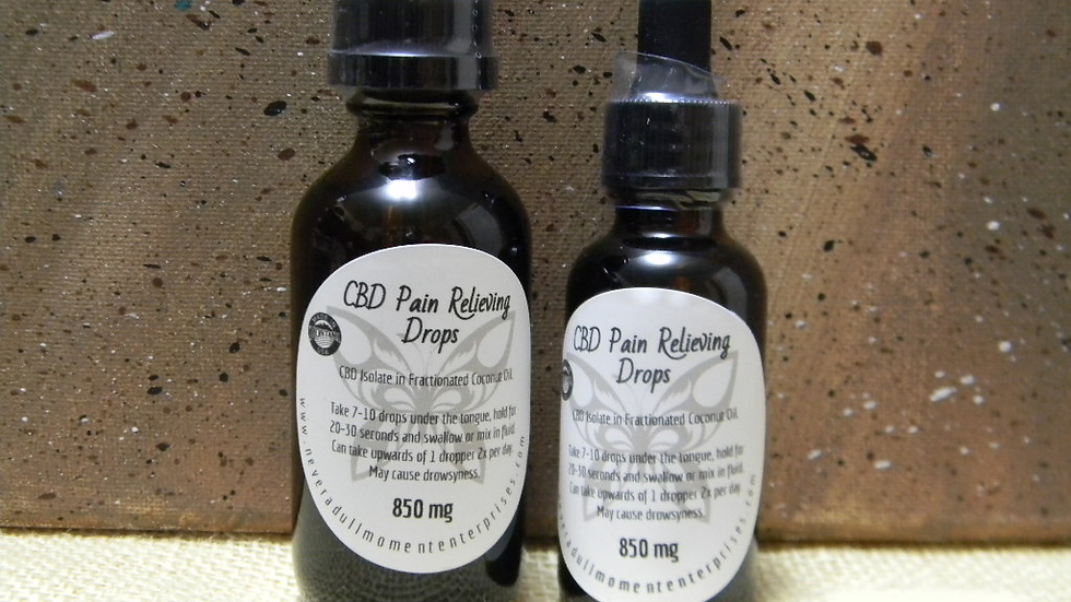 CBD Pain Releiving Drops- 850mg