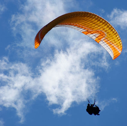 Tandem paragliding fights in the Kootenays near Rossland, BC and Nelson, BC