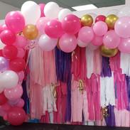 Fringe Backdrop & Balloon Garland