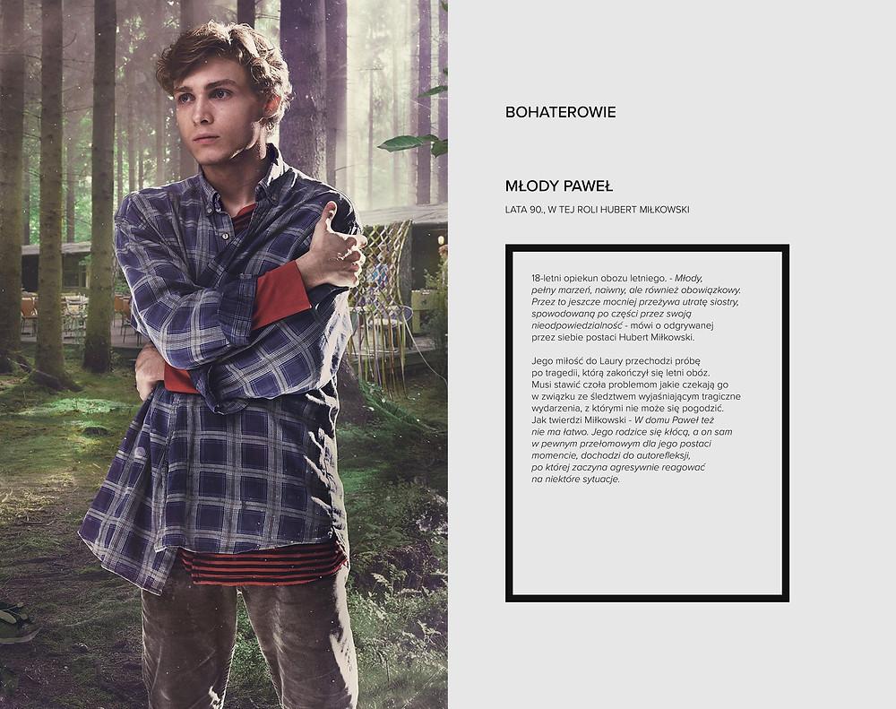 """Aktor Hubert Miłkowski w serialu """"W głębi lasu"""""""