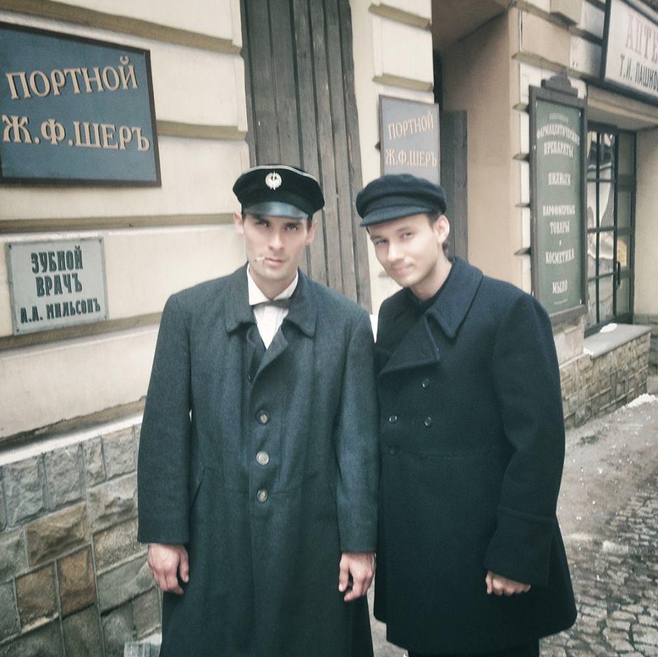 "Vova Makovskyi na planie serialu ""Ziuk. Młody Piłsudski"""