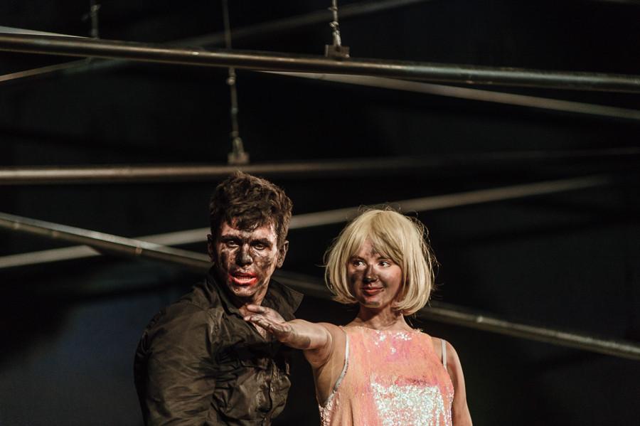 "Spektakl dyplomowy ""Otello"" w reżyserii Grażyny Kani w Teatrze Collegium Nobilium"